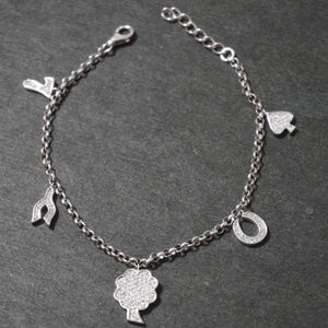 Sterling Silver Luck All Around Charm Bracelet